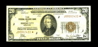 Fr. 1870-J* $20 1929 Federal Reserve Bank Note. Fine-Very Fine. This piece, which retains some crispness, is lightly sta...