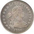 Early Half Dollars: , 1796 50C 15 Stars--Tooled, Whizzed--ANACS. Fine 15 Details. O-101,R.5. The 1796 half dollar comes in two varieties: the fi...