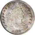 Early Dimes: , 1798/97 10C 16 Stars on Reverse MS63 PCGS. JR-1, R.3. Fourvarieties of the 1798 dime are known, and each merits its own li...