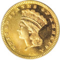 Proof Gold Dollars: , 1887 G$1 PR66 PCGS. Except for the final-year 1889, the business strike gold dollars of the 1880s were produced in little m...