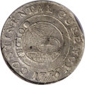 """Colonials: , 1776 $1 Continental Dollar, CURENCY, Pewter--Damaged--NCS. VF Details. The noted """"damage"""" occurs in the form of a few minor..."""