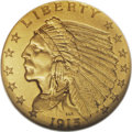 Proof Indian Quarter Eagles: , 1915 $2 1/2 PR66 NGC. This Premium Gem proof has distinctive darkmatte surfaces, darker than usually seen on this or any o...