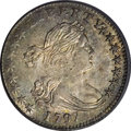 Early Half Dimes: , 1797 H10C 15 Stars MS63 PCGS. LM-1, V-2, R.3. Not a trace of wearcan be found on this impressive Mint State example, despi...