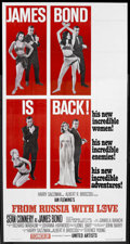 """Movie Posters:James Bond, From Russia with Love (United Artists, 1964). Three Sheet (41"""" X81"""") Style B. Tri-folded. James Bond Thriller. Starring Sea..."""