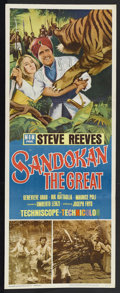 "Movie Posters:Adventure, Sandokan the Great (MGM, 1965). Insert (14"" X 36""). Action.Starring Steve Reeves, Jacqueline Sassard, Marie Versini, Alessa..."
