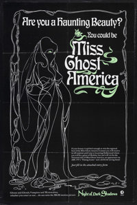 """Night of Dark Shadows (MGM, 1971). One Sheet (27"""" X 41"""") Special Contest Poster. This is a tie-in poster for &..."""