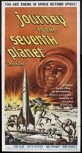 "Movie Posters:Science Fiction, Journey to the Seventh Planet (American International, 1962). ThreeSheet (41"" X 81""). Science Fiction. Starring John Agar, ..."