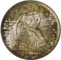 Seated Half Dimes: , 1840 H10C No Drapery MS67 PCGS. This example displays a phenomenalstrike. Liberty's foot is fully defined, as are the faci...