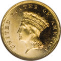 Three Dollar Gold Pieces: , 1886 $3 MS62 Prooflike NGC. According to the Garrett-GuthEncyclopedia of U.S. Gold Coins 1795-1933, circulationstrike...