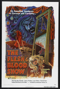 """The Flesh and Blood Show (EVI, 1973). One Sheet (27"""" X 41""""). Horror. Starring Ray Brooks, Jenny Hanley, Luan P..."""