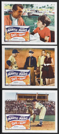 """Movie Posters:Sports, Safe at Home (Columbia, 1962). Lobby Cards (3) (11"""" X 14""""). Sports. Starring Mickey Mantle, Roger Maris and Bryan Russell. D... (Total: 3 Items)"""
