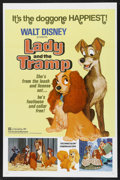 "Movie Posters:Animated, Lady and the Tramp (Buena Vista, R-1972). One Sheet (27"" X 41"").Family. Directed by Clyde Geronimi, Wilfred Jackson and Ham..."