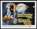 "Movie Posters:James Bond, Diamonds Are Forever (United Artists, 1971). Half Sheet (22"" X28""). James Bond Action. Starring Sean Connery, Jill St. John..."