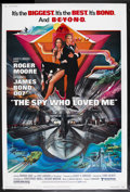 """Movie Posters:James Bond, The Spy Who Loved Me (United Artists, 1977). Poster (40"""" X 60""""). James Bond Action. Starring Roger Moore, Barbara Bach, Curt..."""