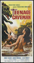 "Movie Posters:Science Fiction, Teenage Caveman (American International, 1958). Three Sheet (41"" X81""). Science Fiction. Starring Robert Vaughn, Darrah Mar..."