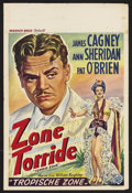 "Movie Posters:Adventure, Torrid Zone (Warner Brothers, R-1940s). Belgian (14"" X 22"").Adventure Comedy. Starring James Cagney, Ann Sheridan and Pat O..."