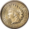 Indian Cents: , 1860 1C MS67 PCGS. Ex: Joshua and Ally Walsh. Aside from the Judd-228 transitional pattern, the 1860 cent introduced the fa...