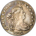 Early Dimes: , 1802 10C XF40 PCGS. JR-2, R.5. Star 7 nearly touches the L and star8 nearly touches the Y in LIBERTY. Die lines close both...