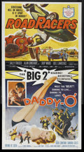 "Movie Posters:Action, Daddy ""O""/Roadracers (American International, 1958). Three Sheet(41"" X 81""). Sports Drama. Starring Dick Contino, Sandra Gi..."