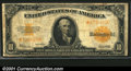 Large Size Gold Certificates:Large Size, 1922 $10 Gold Certificate Star Note, Fr-1173*, Fine. A problem-...