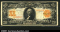 Large Size Gold Certificates:Large Size, 1906 $20 Gold Certificate, Fr-1185, VF. A richly colored exampl...