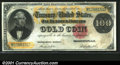 Large Size Gold Certificates:Large Size, 1882 $100 Gold Certificate, Fr-1214, VF. A crisp example of thi...