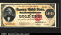 Large Size Gold Certificates:Large Size, 1922 $100 Gold Certificate, Fr-1215, XF. Not everybody can coll...