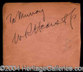 Autographs, William Randolph Hearst