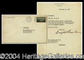 Autographs, Dwight Eisenhower Letter As President