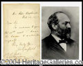 Autographs, James Garfield