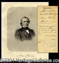 Autographs, Andrew Johnson