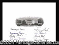 Autographs, Four Presidents and Four First Ladies