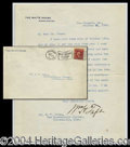 Autographs, William H. Taft White House Letter