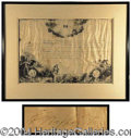 Autographs, George Washington Fourth of July Document