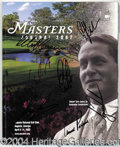 Autographs, Tiger Woods Signed 2002 Masters Program