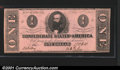 Confederate Notes:1862 Issues, 1862 $1 Clement C. Clay, T-55, VF. You may bid on this lot usin...