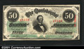 Confederate Notes:1863 Issues, 1863 $50 Black with green overprint; Jefferson Davis, T-57, CU....