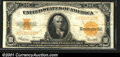 Large Size Gold Certificates:Large Size, 1922 $10 Gold Certificate, Fr-1173, Fine-VF. The horizontal cen...