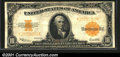 Large Size Gold Certificates:Large Size, 1922 $10 Gold Certificate, Fr-1173, VF. A crisp example with br...