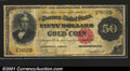 Large Size Gold Certificates:Large Size, 1882 $50 Gold Certificate, Fr-1195, Fine. An attractive example...
