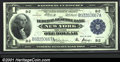 Large Size:Federal Reserve Bank Notes, 1918 $1 Federal Reserve Bank Note (New York), Fr-713, Choice-Ge...