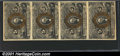 Fractional Currency: , 1863-1867 5c Second Issue, Washington, Fr-1232, vertical strip ...