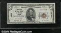 National Bank Notes:Kansas, Citizens National Bank of Eureka, KS, Charter #5655. 1929 $5 Ty...