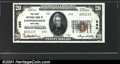 National Bank Notes:New York, First National Bank of Cooperstown, NY, Charter #280. 1929 $20 ...
