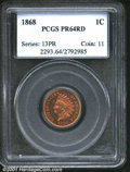 Proof Indian Cents: , 1868 1C, RD