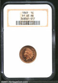Proof Indian Cents: , 1869 1C, RB