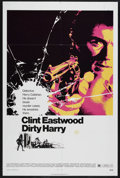 "Movie Posters:Crime, Dirty Harry (Warner Brothers, 1971). One Sheet (27"" X 41""). CrimeThriller. Starring Clint Eastwood, Harry Guardino, Reni Sa..."