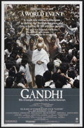 "Movie Posters:Academy Award Winner, Gandhi (Columbia, 1982). One Sheet (27"" X 41""). Historical Biography. Starring Ben Kingsley, Candice Bergen, Edward Fox, Joh..."