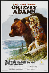 "The Life and Times of Grizzly Adams (Sunn Classic, 1974). One Sheet (27"" X 40""). Western Adventure. Starring D..."