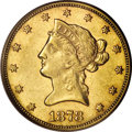 Liberty Eagles: , 1878-CC $10 AU55 PCGS. Even though in 1878 our nation's mints werebusy producing their premier Morgan silver dollars, they...